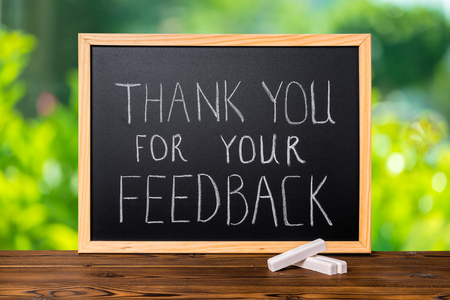 Dank je voor de feedback !